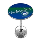 Minnesota Timberwolve Hardwood Classics NBA Chrome Pub Table