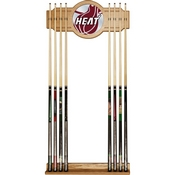 NBA Cue Rack with Mirror - Fade - Miami Heat