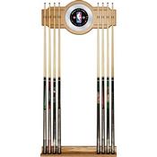 NBA Logo with All Teams Billiard Cue Rack with Mirror