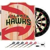 NBA Dart Cabinet Set with Darts and Board - Fade - Atlanta Hawks