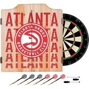 NBA Dart Cabinet Set with Darts and Board - City - Atlanta Hawks