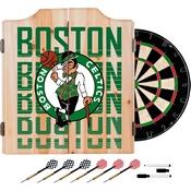 NBA Dart Cabinet Set with Darts and Board - City - Boston Celtics