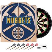 NBA Dart Cabinet Set with Darts and Board - Fade - Denver Nuggets