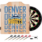 NBA Dart Cabinet Set with Darts and Board - City - Denver Nuggets