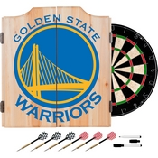 NBA Dart Cabinet Set with Darts and Board - Fade - Golden State Warriors
