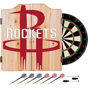 NBA Dart Cabinet Set with Darts and Board - Fade - Houston Rockets