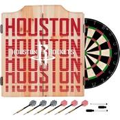 NBA Dart Cabinet Set with Darts and Board - City - Houston Rockets