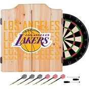 NBA Dart Cabinet Set with Darts and Board - City - Los Angeles Lakers