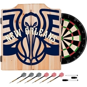 NBA Dart Cabinet Set with Darts and Board - Fade - New Orleans Pelicans