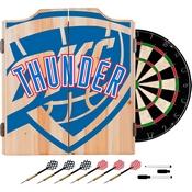 NBA Dart Cabinet Set with Darts and Board - Fade - Oklahoma City Thunder