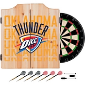 NBA Dart Cabinet Set with Darts and Board - City - Oklahoma City Thunder