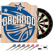 NBA Dart Cabinet Set with Darts and Board - Fade - Orlando Magic