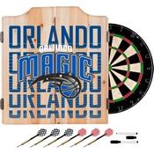NBA Dart Cabinet Set with Darts and Board - City - Orlando Magic