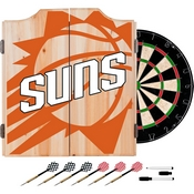 NBA Dart Cabinet Set with Darts and Board - Fade - Phoenix Suns