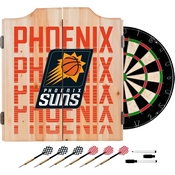 NBA Dart Cabinet Set with Darts and Board - City - Phoenix Suns