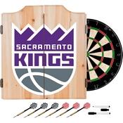 NBA Dart Cabinet Set with Darts and Board - Fade - Sacramento Kings