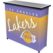 Los Angeles Lakers Hardwood Classics NBA Portable Bar w/Case