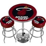 Ultimate NBA Miami Heat Gameroom Combo-2 Bar Stools & Table