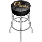 NHL Chrome Bar Stool with Swivel - Watermark - Boston Bruins