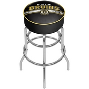NHL Chrome Bar Stool with Swivel - Boston Bruins