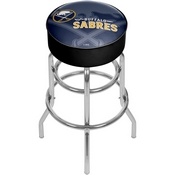 NHL Chrome Bar Stool with Swivel - Watermark - Buffalo Sabres