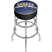 NHL Chrome Bar Stool with Swivel - Buffalo Sabres