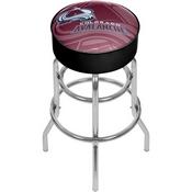 NHL Chrome Bar Stool with Swivel - Watermark - Colorado Avalanche