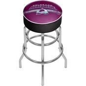 NHL Chrome Bar Stool with Swivel - Colorado Avalanche