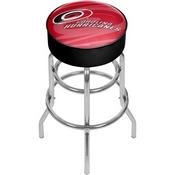 NHL Chrome Bar Stool with Swivel - Watermark - Carolina Hurricanes