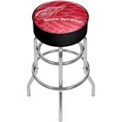NHL Chrome Bar Stool with Swivel - Watermark - Detroit Redwings