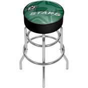 NHL Chrome Bar Stool with Swivel - Watermark - Dallas Stars