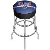 NHL Chrome Bar Stool with Swivel - Edmonton Oilers