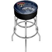 NHL Chrome Bar Stool with Swivel - Watermark - Florida Panthers