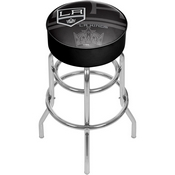 NHL Chrome Bar Stool with Swivel - Watermark - Los Angeles Kings