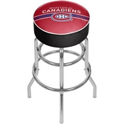 NHL Chrome Bar Stool with Swivel - Montreal Canadiens