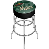 NHL Chrome Bar Stool with Swivel - Watermark - Minnesota Wild
