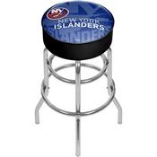 NHL Chrome Bar Stool with Swivel - Watermark - New York Islanders