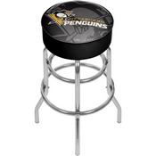 NHL Chrome Bar Stool with Swivel - Watermark - Pittsburgh Penguins