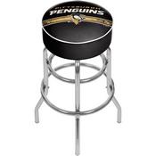 NHL Chrome Bar Stool with Swivel - Pittsburgh Penguins