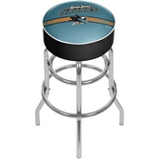 NHL Chrome Bar Stool with Swivel - San Jose Sharks