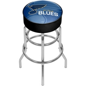 NHL Chrome Bar Stool with Swivel - Watermark - St. Louis Blues