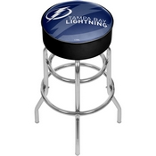 NHL Chrome Bar Stool with Swivel - Watermark - Tampa Bay Lightning