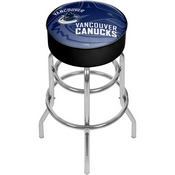 NHL Chrome Bar Stool with Swivel - Watermark - Vancouver Canucks