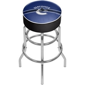 NHL Chrome Bar Stool with Swivel - Vancouver Canucks
