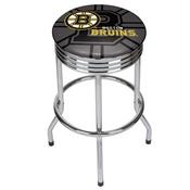 NHL Chrome Ribbed Bar Stool - Boston Bruins