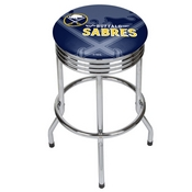 NHL Chrome Ribbed Bar Stool - Buffalo Sabres