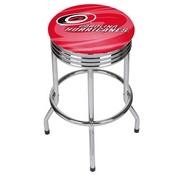 NHL Chrome Ribbed Bar Stool - Carolina Hurricanes