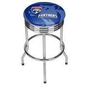 NHL Chrome Ribbed Bar Stool - Florida Panthers