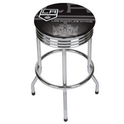 NHL Chrome Ribbed Bar Stool - Los Angeles Kings