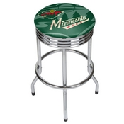 NHL Chrome Ribbed Bar Stool - Minnesota Wild